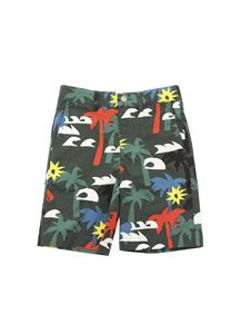 Stella McCartney Kids - Palm print pants in green
