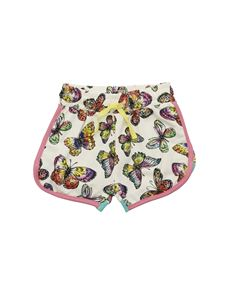 Stella McCartney Kids - Butterflies print shorts in white