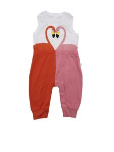 Stella McCartney Kids - Flamingo romper suit in white and red