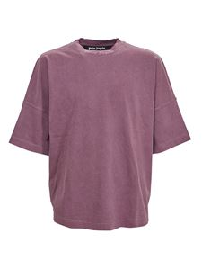 Palm Angels - Logo T-shirt in Grape color