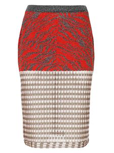 Missoni - Fitted skirt in red and beige