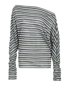 Missoni - Striped blouse in grey and silver