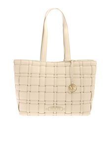 Michael Kors - Braided leather bag in ivory color