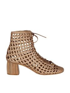 Forte Forte - Perforated ankle boots in gold color