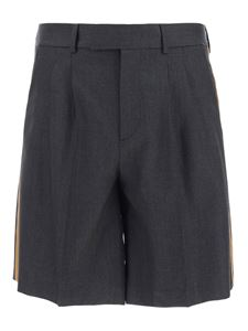 Valentino - Tailored bermuda shorts in grey
