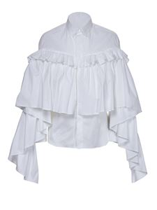 Red Valentino - Maxi ruffle blouse in white