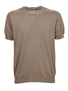 Paolo Pecora - Knitted t-shirt in beige color