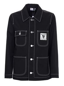 Red Valentino - Contrasting stitching jacket in black