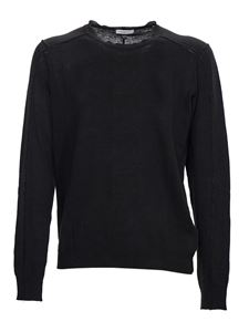 Paolo Pecora - Linen sweater in black
