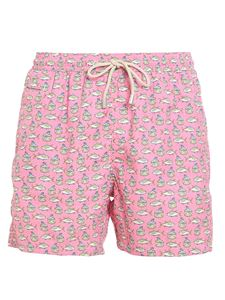 MC2 Saint Barth - Fishes printed swim shorts in pink
