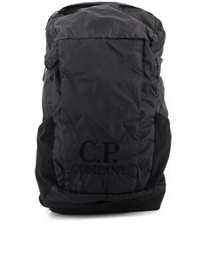 CP Company - Logo embroidery nylon backpack in black
