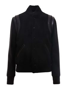 Saint Laurent - Wool varsity jacket in black