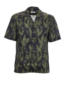 Paolo Pecora - Printed shirt in black and green