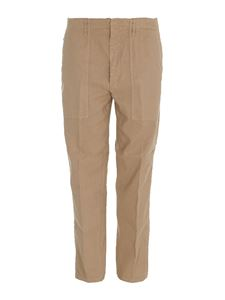 Dondup - Linen-cotton blend trousers in beige