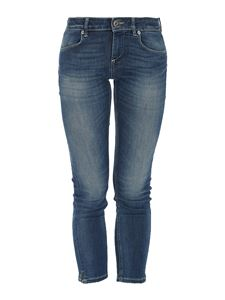 Dondup - Skinny cropped jeans in blue