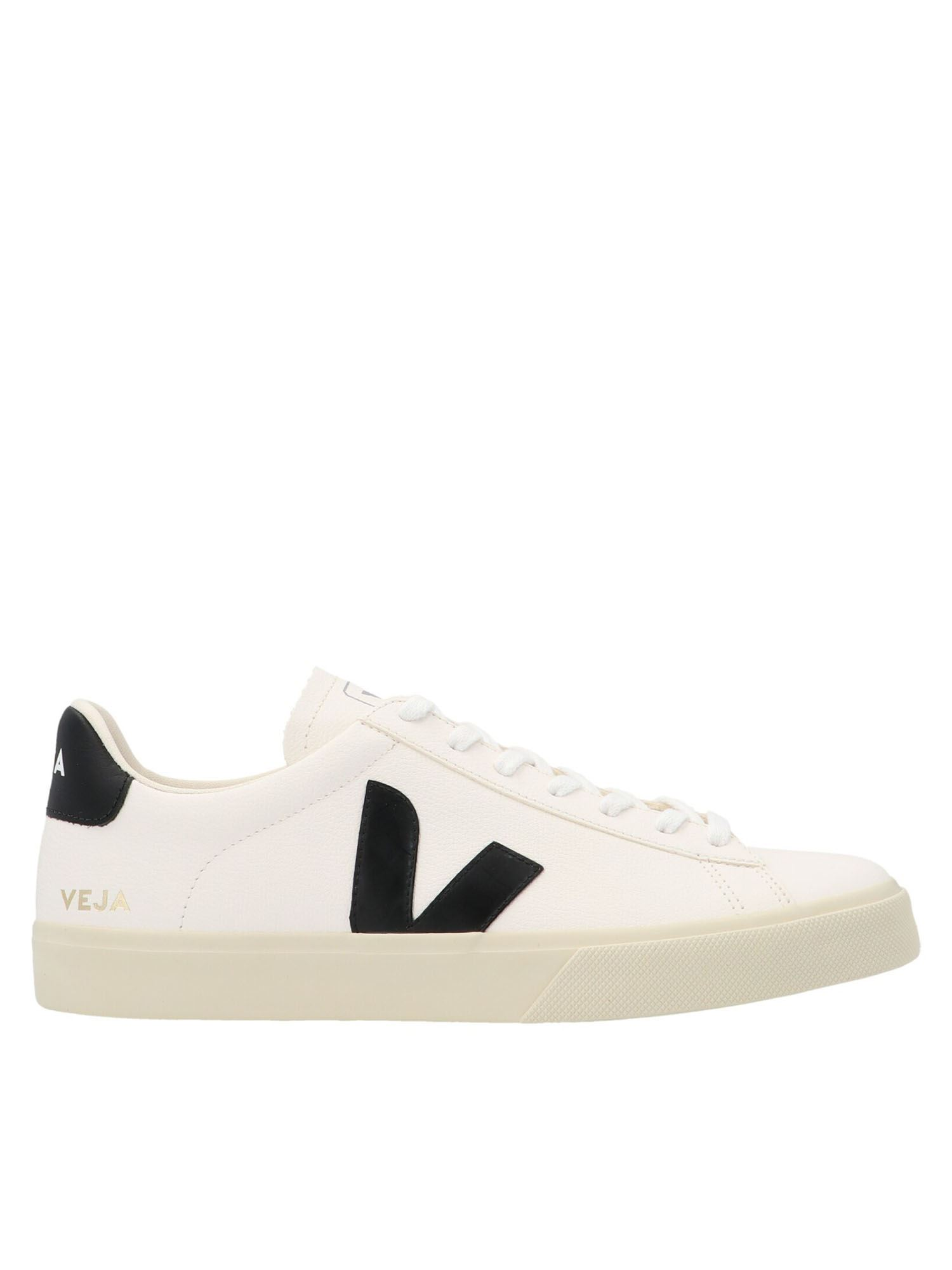 Veja Leathers CAMPO SNEAKERS IN WHITE