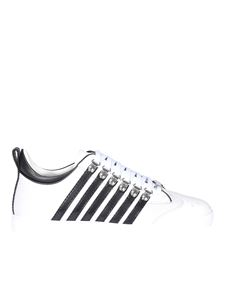 Dsquared2 - Contrasting stripes sneakers in white