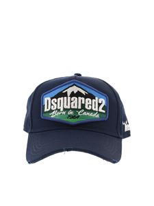 Dsquared2 - Logo patch cotton cap in blue