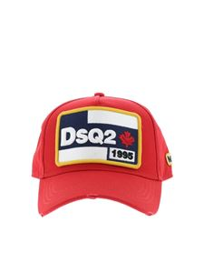 Dsquared2 - Logo patch red cotton cap