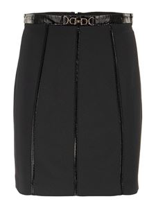 Elisabetta Franchi - Knit pencil miniskirt in black