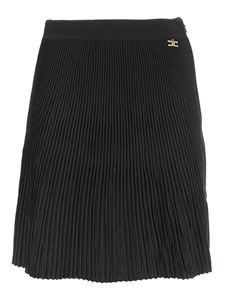 Elisabetta Franchi - Pleated viscose skirt in black