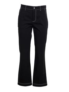 Red Valentino - Contrast stitching pants in black
