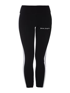 Palm Angels - Contrasting stripe leggings in black