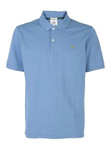 Lacoste - Branded polo in light blue