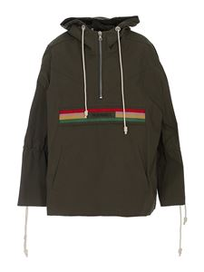 Palm Angels - Waxed cotton jacket in green