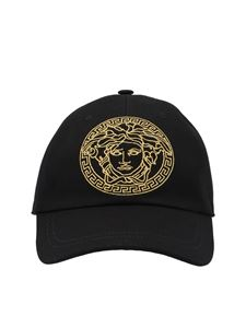 Versace - Medusa embroidery cap in black