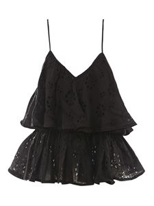 Mes Demoiselles - Broderie anglaise top in black