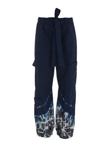 MSGM - Cotton trousers in blue
