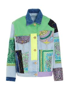 Versace - Patchwork denim jacket in light blue