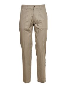 Grifoni - Raw-cut details trousers in beige