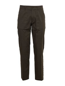 Grifoni - Raw-cut details trousers in dark green