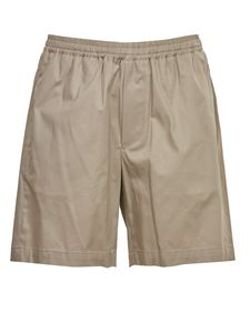 Grifoni - Elasticated waist bermuda shorts in beige