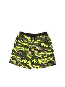 MC2 Saint Barth - Summer Army swim trunks in green and neon