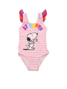 MC2 Saint Barth - Snoopy Baloon one-piece swimsuit in pink