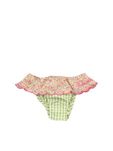MC2 Saint Barth - Hannah Rose swim panties in green and white
