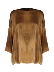 Avant Toi - Dropped shoulder T-shirt in brown