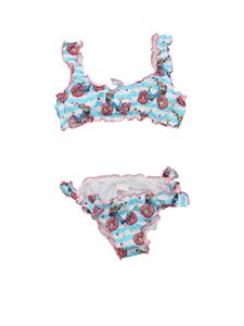 MC2 Saint Barth - Donut Bike bikini in light blue and white