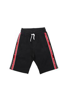 Givenchy - Branded bands bermuda shorts in black