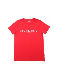 Givenchy - Destroyed effect logo T-shirt in red