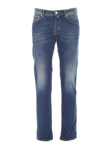 Jacob Cohën - Jeans in blue with white calfhair logo
