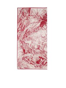 Red Valentino - Pareo stampa Jungle Toile rosso