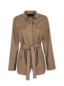 Fabiana Filippi - Belt jacket in brown