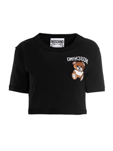 Moschino - Inside Out Teddy Bear crop t-shirt in black