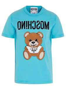Moschino - Inside Out Teddy T-shirt in turquoise