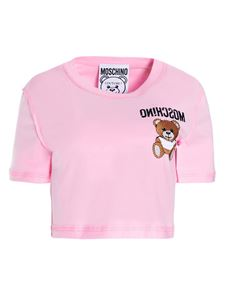 Moschino - Inside Out Teddy Bear crop t-shirt in pink