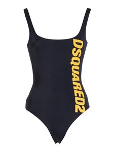 Dsquared2 - Printed swimsuit in black